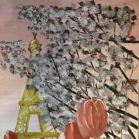 «Париж и тюльпаны». Мастер-класс по рисованию
