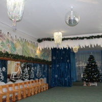 Новогоднее украшение музыкального зала