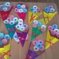 Конспект НОД по аппликации с элементами оригами в средней группе «Волшебный букет для мамы»
