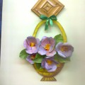 «Корзина с фиалками»— весеннее украшение для интерьера детского сада.
