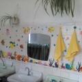 Идея оформления умывальной комнаты в детском саду