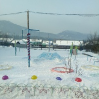 Фотоотчет «Спортивный зимний участок»