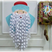 Мастер-класс по аппликации «Портрет дедушки Мороза»