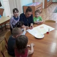 Мастер-класс по рисованию крупой