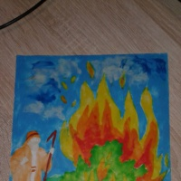 Детская работа для конкурса «Неопалимая купина»