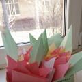 Конспект занятия по оригами в старшей группе: «Коробочка с тюльпанами»