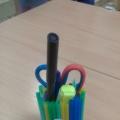 Фотоотчет «Как мы карандашницу делали»