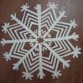 Мастер-класс. Изготовление новогоднего украшения из потолочной плитки «Снежинка»
