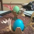 Мастер-класс: пасхальная подставка из ячейки для яиц «Пасхальный петушок»