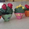 Поделка из бросового материала и бумажных салфеток «Цветущий кактус в горшочке» (мастер-класс)