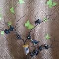 Поделка из бросового материала (коллективная работа) «Скворцы на дереве»