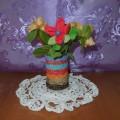 Мастер-класс «Вазочка с цветами для любимой мамы»