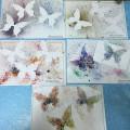 Изготовление панно из бумажных бабочек