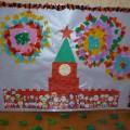 Коллективная работа ко Дню Победы «Праздничный салют над Красной площадью»