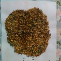 Аппликация из сухих листьев «Осенняя береза»
