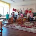 Выставка старинных платков, посвященная Международному Женскому Дню.