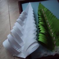 Мастер-класс поделки из бумаги «Ёлочка пушистая»