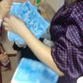 Занятие по нетрадиционному рисованию свечой «Морозные узоры» в подготовительной группе