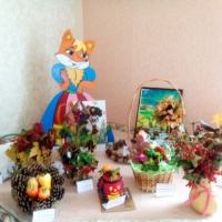 Фотоотчет о выставке поделок из природного материала «Осенние фантазии»