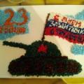 Поздравительная открытка в технике торцевания «День защитника Отечества». Коллективная работа детей подготовительной группы