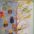 Коллективная работа «Ознакомление с природой. Сова и синица» (старшая группа)
