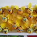 Коллективная работа для детей 5–7 лет Пчёлки в сотах.