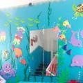 Оформление лестницы в детском саду