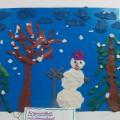 Конспект занятия по пластилинографии «Зима» для второй младшей группы