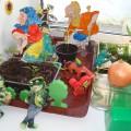 Оформление детского сада. Огород на окне