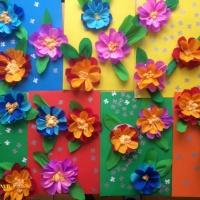 Мастер-класс «Поздравительная открытка— цветочное настроение»