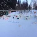 Зимнее оформление участка «ПДД для детей!»
