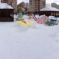 Фотоотчет «Зимние постройки на нашем участке»