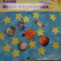 Фотоотчёт о психолого-логопедическом развлечении ко Дню космонавтики для второй младшей группы «Космическое путешествие»