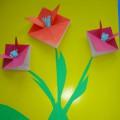 Мастер-класс «Поздравительная открытка с тюльпанами»
