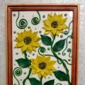 Картина из пластилина украшенная бисером и паетками (мастер-класс)