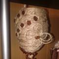 Декорирование бокала шпагатом