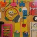 Бизиборд-развивающая доска «Я сам» для работы с детьми раннего и младшего дошкольного возраста