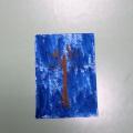 Мозаика из фантиков «Осеннее дерево». Фантики, гуашь