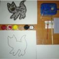 Мастер-класс для воспитателей младших групп ДОУ «Увлекательное рисование методом тычка «Котёнок»