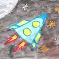 «День космонавтики» в детском саду. Выставка работ.