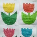 Обрывная аппликация «Разновидности тюльпана»