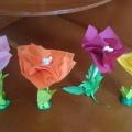 «Аленький цветочек». Цветы из подручных материалов