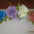 Мастер-класс для коллег «Розы из фоамирана»