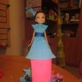 Платье из гофрированной бумаги