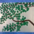 Пластилиновая картина «Берёзка»