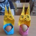 Мастер-класс по оригами к Пасхе «Милый зайка»