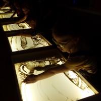 Рисование песком детей с нарушением зрения