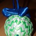 Мастер-класс «Ёлочный шар из атласных лент»