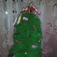 Мастер-класс «Новогодняя ёлочка из фатина»
