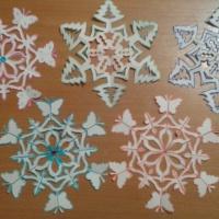 Мастер-класс «Снежинка-бабочка» и «Снежинка-елочка»